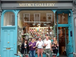 Retail Employee of the Year, Tim Reynolds, with his winning team outside London's Medici Gallery