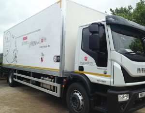 UKG is righty thrilled with its new transport truck - complete with its eye-catching creative transformation