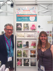 Above: Leonard Smith is one publisher that is once again embracing Thinking of You Week. Len and Issy Smith made a feature of it on the company's stand at the recent Home & Gift show.