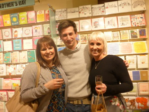 Above: Mark in front of Postmark Greenwich's Mother's Day display with Paper Salad's Karen Wilson (right) and Claire Williams.