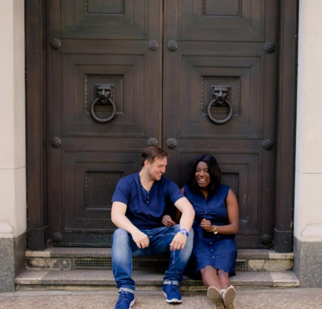 Huetribe founder Tineka Smith with her husband Alex.