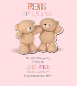 Hallmark has developed some new look Forever Friends cards.