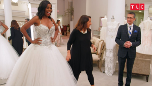 Above: Binge watching 'Say Yes to the Dress' is one of Carly's foibles.