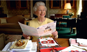 Above: Her Majesty rally is the 'Queen of Cards'.
