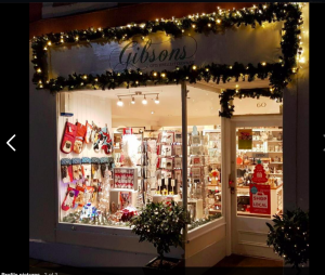 Above: Gibsons, the shop run by Grant's wife Joanne, is looking forward to gearing up for Christmas.
