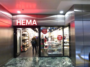 Hema's store in London's Euston station.