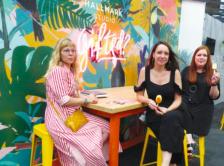 (L-R) Hallmark Cards' Bibi Klamer, Kate Van Spall and Laura Bradley at the New Designers show.