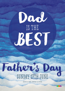 Above: Handscripted lettering gives the Father's Day items an ontrend look.
