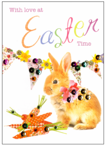 Above: Easter card sales are on the up. One of the new Easter cards from Second Nature.