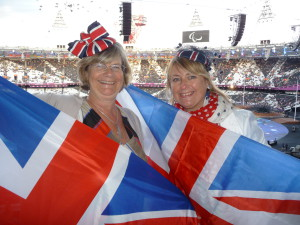 Lynn Tait (right) with PG's Jakki Brown at the 2012 Olympics.