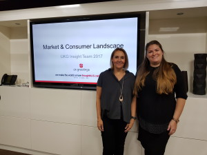 UKG's Lois Holcroft (left) and Alex Kennedy shared some insights about the changing market and consumer landscape.