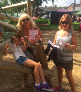 Kate Phythian Designs gave away 200 free cards (with stamps) at the Live and Local event in Cheshire village of Marston to back ToYW.