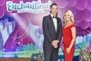 UKG's Ben Whittington and Sarah Johnson were also at The Licensing Awards, in the enchanting Enchantimals entranceway.