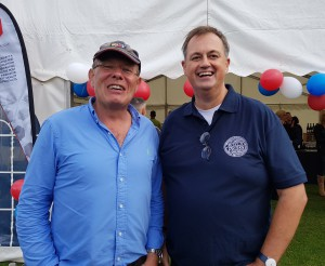 Windles' md Bruce Posdmore (left) with Woodmansterne Publications' md, Paul Woodmansterne.
