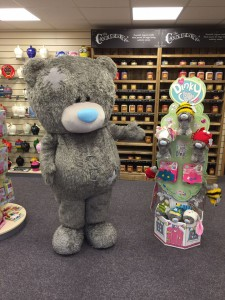 One of the first stockists of Dinky was Cards and Gifts Direct in Staffordshire which held a 'meet Tatty Teddy and be introduced to Dinky' weekend recently.