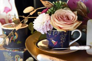 Sara's luxurious artwork translates beautifully onto tableware.