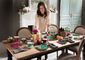 Sara 'hands on' with the new Portmeirion collection.