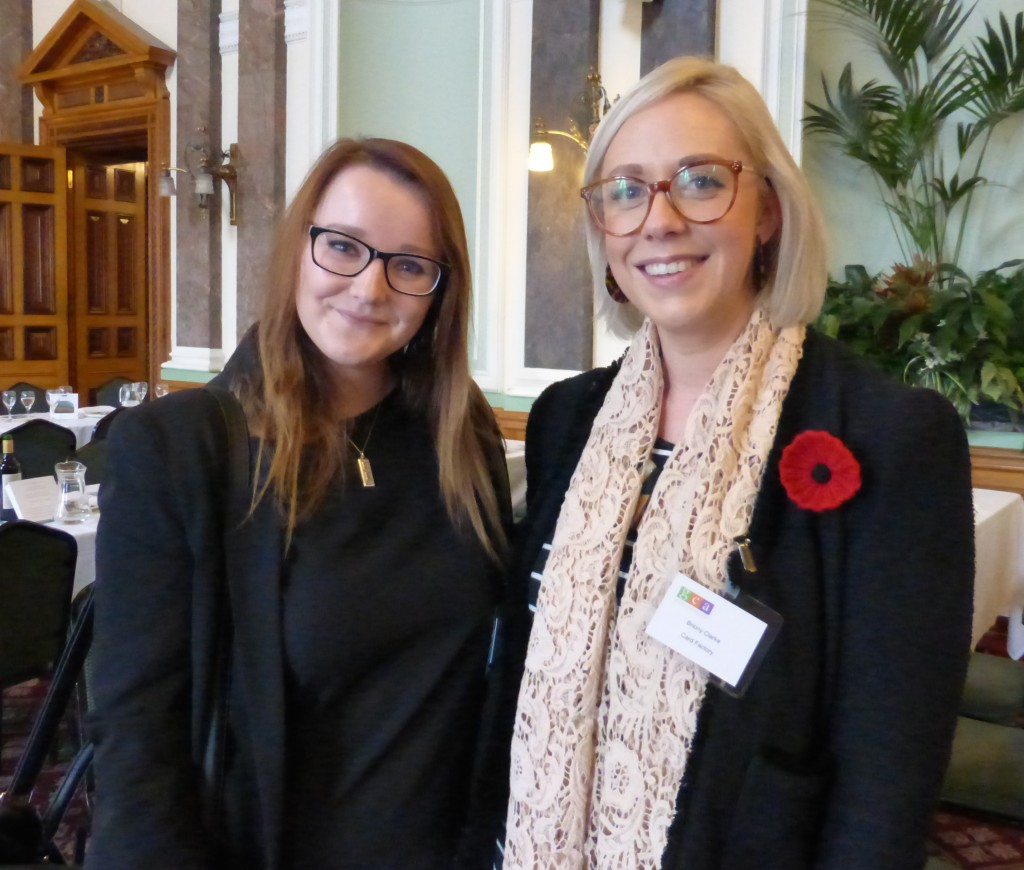 GCA retail member Card Factory's Briony Clarke (right) and Katherine Ormondroyd.