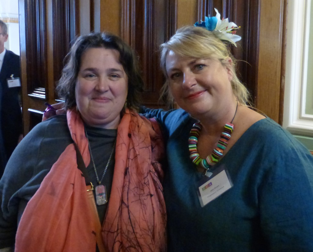 Keynote speaker, Sarah Hamilton, founder of the Just a Card campaign with (right) PG's Jakki Brown.