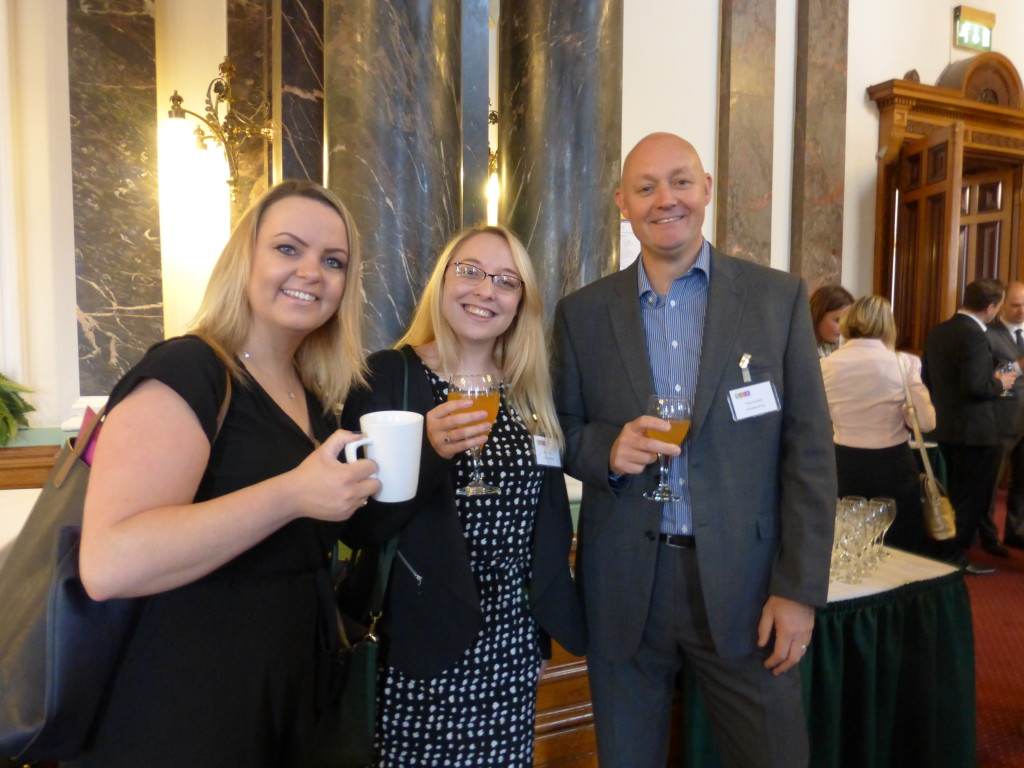 (Left-right) Windles' Emma-Louise Allen with IG Design Group's Steph Evans and Andy Kemmett.