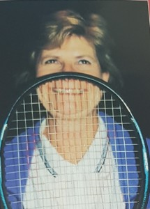 Lynn Tait in tennis mode.