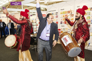 Raj Arora joining in with the Indian drummers that opened the PG Live exhibition a couple of years ago as part of Davora's 10th anniversary celebrations.