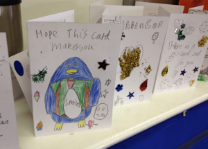 Just a few of the cards that youngsters made in Sai's workshops – let's hope they carry on their enthusiasm for cards as they age.