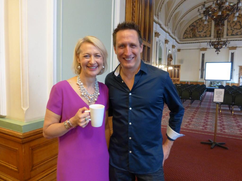 GCA's ceo Sharon Little with the association's treasurer Jeremy Corner, md of Blue Eyed Sun.