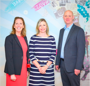Rachael Barnes (centre), co-owner of Dragonfly with UKG's commercial director Jayne Myers and Darren Cave, its director of field sales at a recent UKG customer retail forum that Rachael was invited to attend.