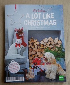 Hugo on the cover of the Pets at Home Christmas catalogue.