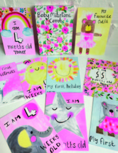 Ben was the inspiration behind Paper Salad new Baby Milestone cards. The 'pink' set is featured here.