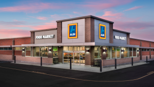 Aldi is highlighted for giving 15% on the sale of its charity pack.