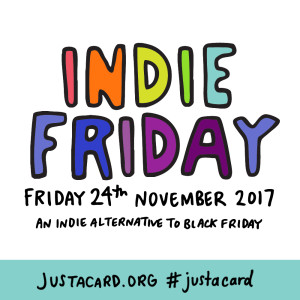 Indie Friday poster designed by Angela Chick