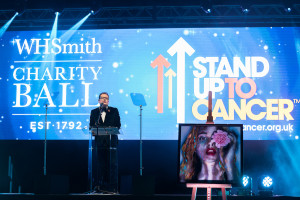 Comedian Alan Carr was anchor man at the WHSmith Charity Ball.