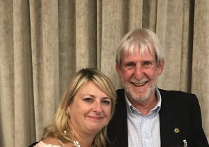 Andy Tait with PG's Jakki Brown at the recent Ladder Club meet up.