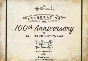 It's quite something to think that Hallmark invented giftwrap 100 years ago.