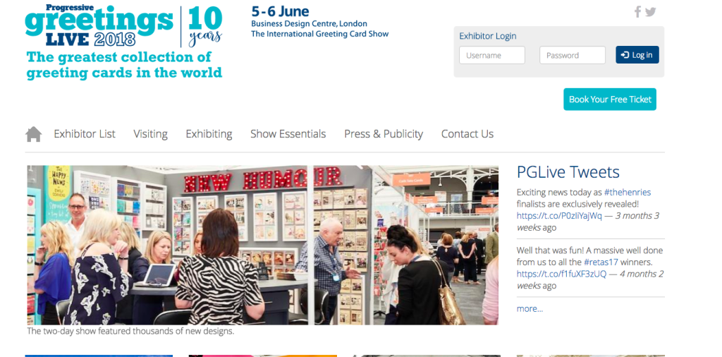 The Progressive Greetings Live website contains details about the show, exhibitors and how to register online.