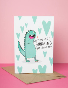Many people are relating to Kate Abey's dinosaur design.