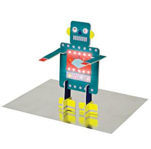 A fabulous robot with flashing light eyes from Meri Meri.