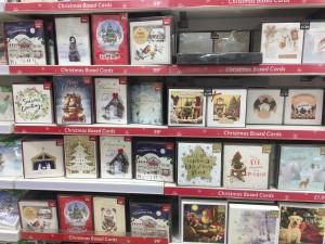 A Christmas display at Card Factory.