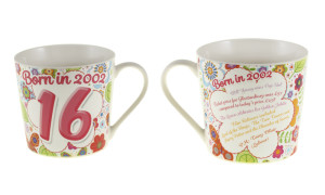 The age 16 Down Memory Lane mug has been nominated for Gift of the Year.