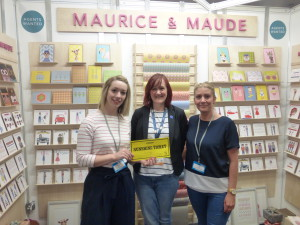 Cathy Frost (centre) at PG Live spending her Sunshine ticket with Maurice and Maude.