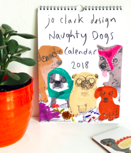 Jo Clark's Naughty Dogs calendar is in the finals in two categories of The Calies calendar awards.