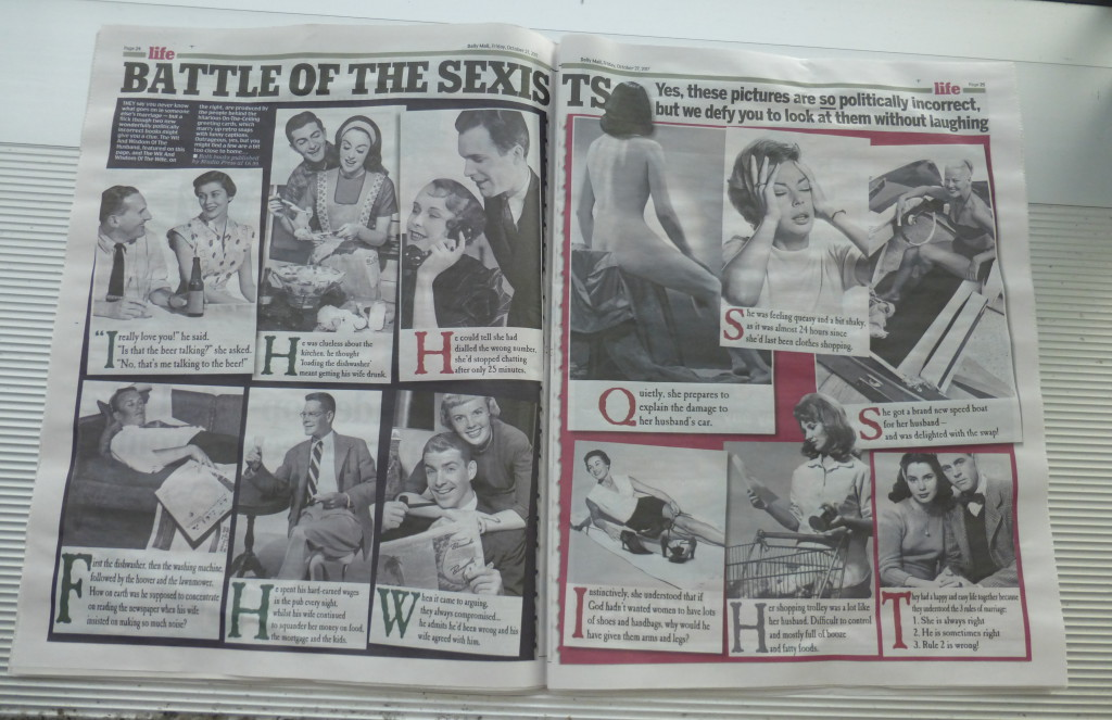 The  double page editorial feature in the Daily Mail a few days ago.