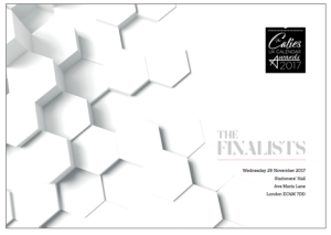 The finalists' brochure for The Calies is produced in 'calendar format' by headline sponsor, 8 Days a Week/Alltrade Print.