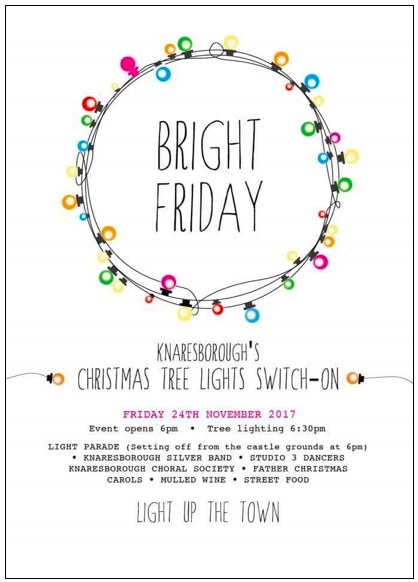 Bright Friday poster for Knaresborough