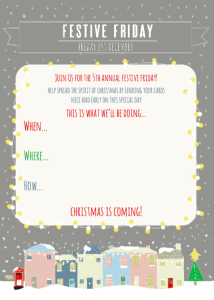 The Festive Friday downloadable 'toolkit' includes banners, fliers and posters.