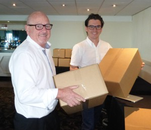 Above: The Imaging Centre's md Bob Short with his son Adam, sales director of the business, which continues to develop publisher solutions.