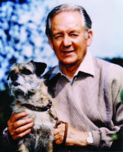 Alf Wight and his dog.