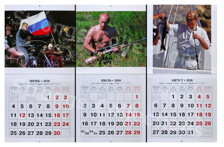 The months show 'Vlad the lad' in a number of scenarios.